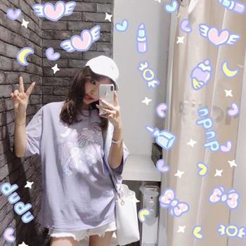 2018新款韩版宽松小马短袖T恤