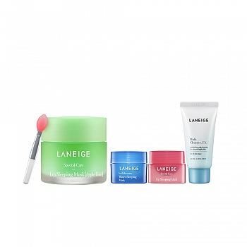 兰芝 (LANEIGE)夜间保湿修护唇膜 20g 4件套组