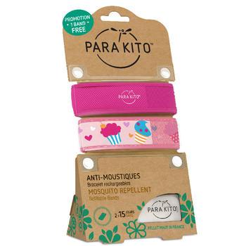 帕洛/parakito 驱蚊手环 玫红+冰淇淋