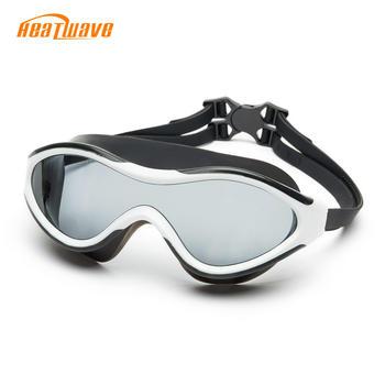 热浪专业舒适平光防水防雾泳镜