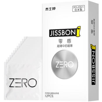 杰士邦 ZERO 零感超薄12只避孕套套