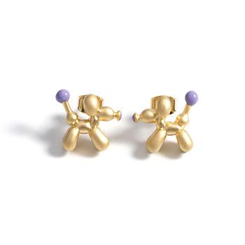Crocus气球狗造型金色合金耳饰52472