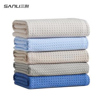 三利薄款蜂巢空调毯夏季纯棉毛毯