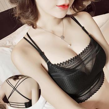 LMSD胸罩无钢圈蕾丝防走光文胸
