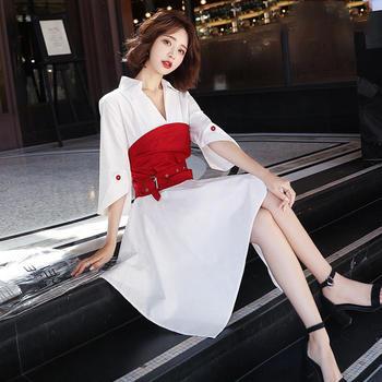 YDMS连衣裙收腰超仙短袖温柔裙子