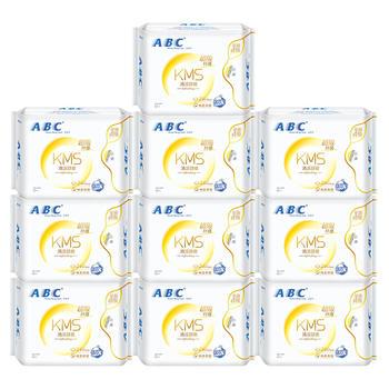 ABC全日用纤薄棉柔表层卫生巾 清爽透气超吸瞬收