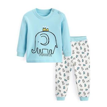 优贝宜 儿童内衣套装 蓝色小象