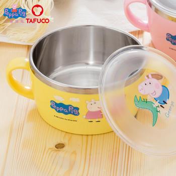泰福高小猪佩奇社会人手柄面碗儿童餐具
