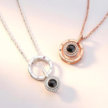 卡洛美 925银爱的表白记忆项链