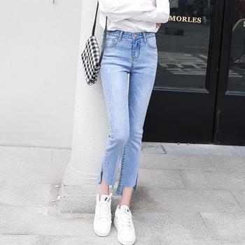 牛仔裤女W8905新款韩版?#36824;?#21017;