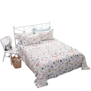 苏娜国际纯棉全棉床单双人床上
