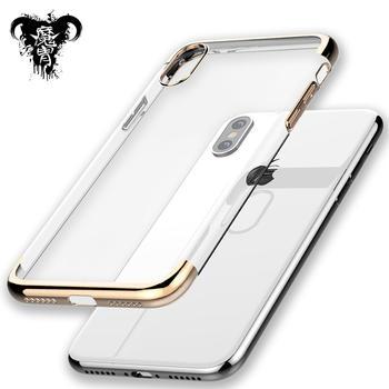 魔胄 苹果iPhoneX 透明电镀手机壳