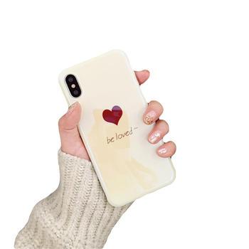 极步苹果iphone手机壳蓝光爱心女款