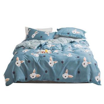 全棉四件套北欧清新纯棉被套床单