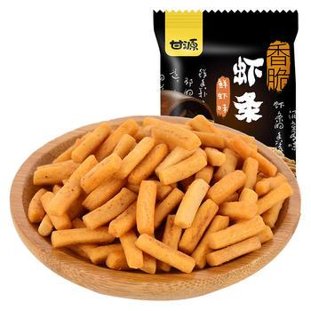 甘源牌 鲜虾味虾条 休闲炒货怀旧零食 285g