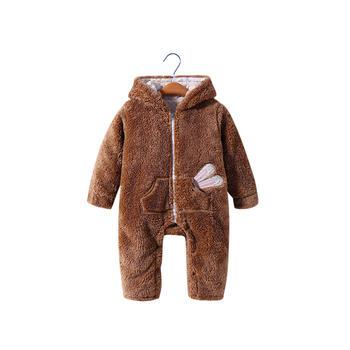 舒贝怡 婴儿冬款外出保暖哈衣