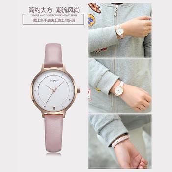 迪士尼石英表皮带时尚晶钻腕表