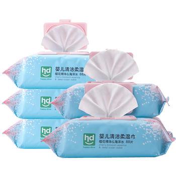 HD小龙哈彼樱花深层水柔亲肤温和湿巾440片