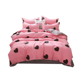 明瑟mingse舒适磨毛四件套床上用品