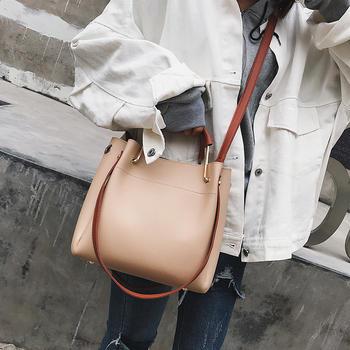 莫妮卡时尚撞色手提包休闲斜挎包