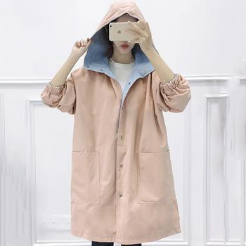 EBEINA大码风衣中长款两面穿外套