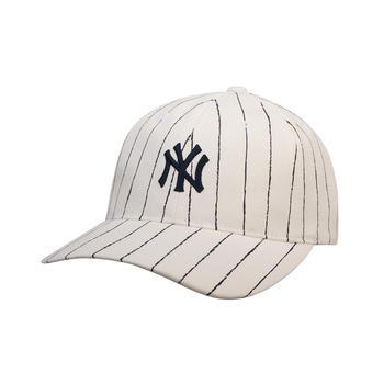 MLB棒球帽白色格纹帽子