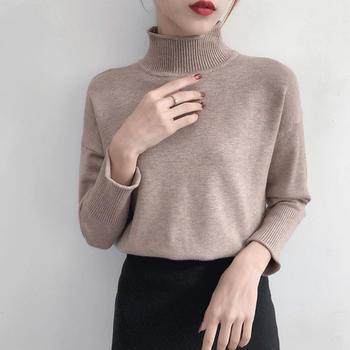 咸素半高领加厚毛衣打底衫针织衫