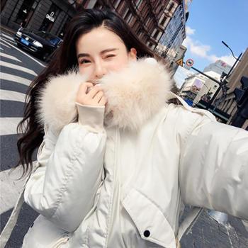 衣织优美 秋冬装羽绒服毛领棉衣