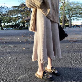衣织优美 针织百搭显瘦半身裙