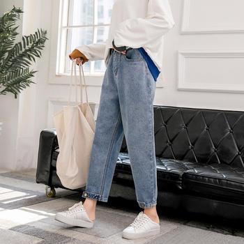 可奈丽莎新款牛仔老爹裤女九分裤