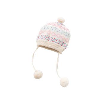 davebella冬季女童针织帽子加绒帽子