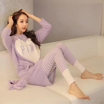 芳熹睡衣牛奶丝可爱长袖套装