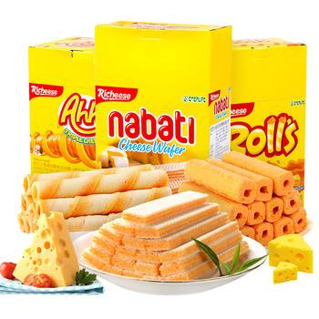印尼进口零食Richeese奶酪饼干3盒装