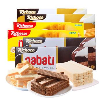 印尼进口richeese威化饼干145g*6盒