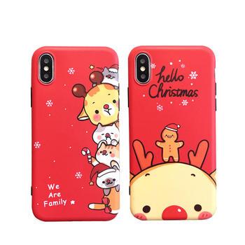 极步苹果手机壳iphone软壳圣诞麋鹿