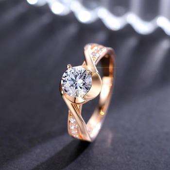 卡洛美 轻奢戒指镶施华洛世奇锆