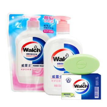 威露士(Walch)洗手液+补充装+香皂随机