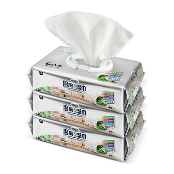 心相印厨房湿巾40片3包