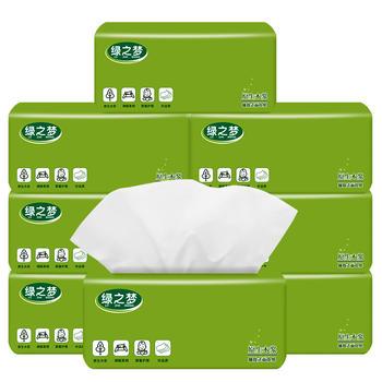 绿之梦木浆抽纸8包母婴适用