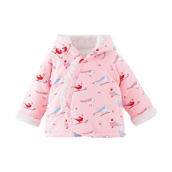 宝然女童外套婴儿棉袄连帽上衣服