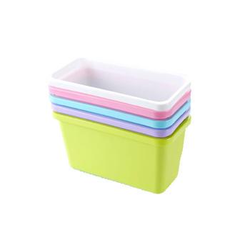 牙小白挂式桌面垃圾桶垃圾筒三个创意桌面垃圾桶