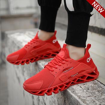跨洋 潮流时尚刀锋运动男鞋 红色