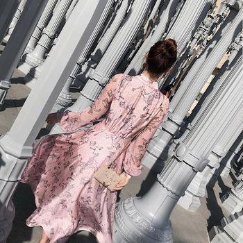 余潇潇欧根纱温柔风拼接连衣裙