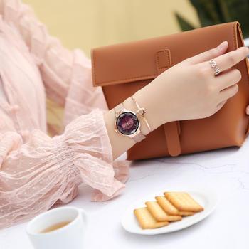聚利时简约小清新璀璨双层面手表