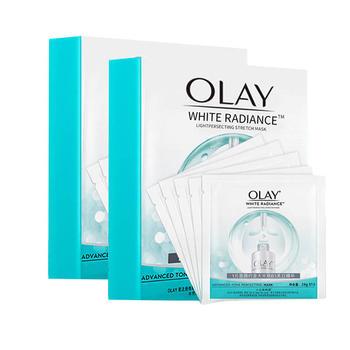 玉兰油Olay水感透白光塑弹力面膜2盒