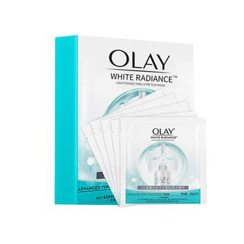 玉兰油Olay小白瓶面膜水感透白面膜5片 新旧包装随机