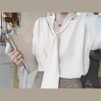 金蘑菇菇 小姐姐们zui爱的两面穿打底长袖蝴蝶结衬衣