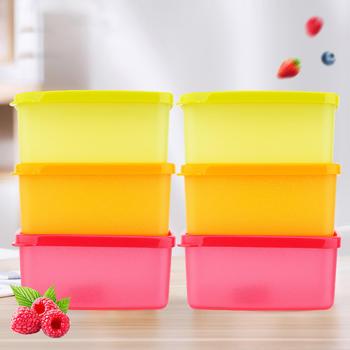 特百惠保鲜盒便携水果保鲜盒6件套400ml