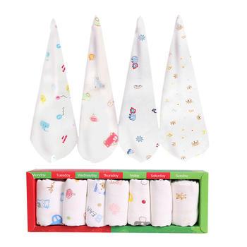 意嬰堡 14條禮盒裝印花紗布口水巾