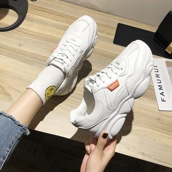 艾微妮韩版系带小熊鞋底小白鞋